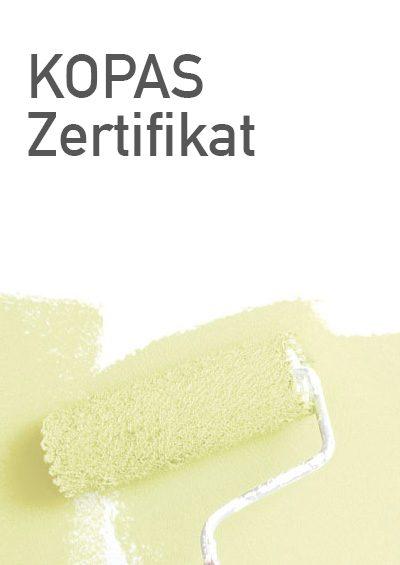 Sposoring Urkunde KOPAS