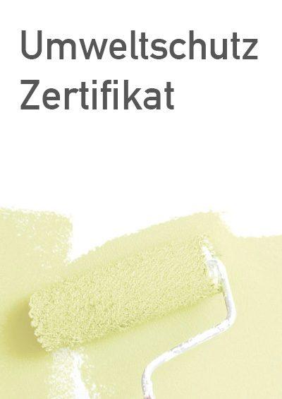 Sposoring Urkunde Umweltschutz-Zertifikat